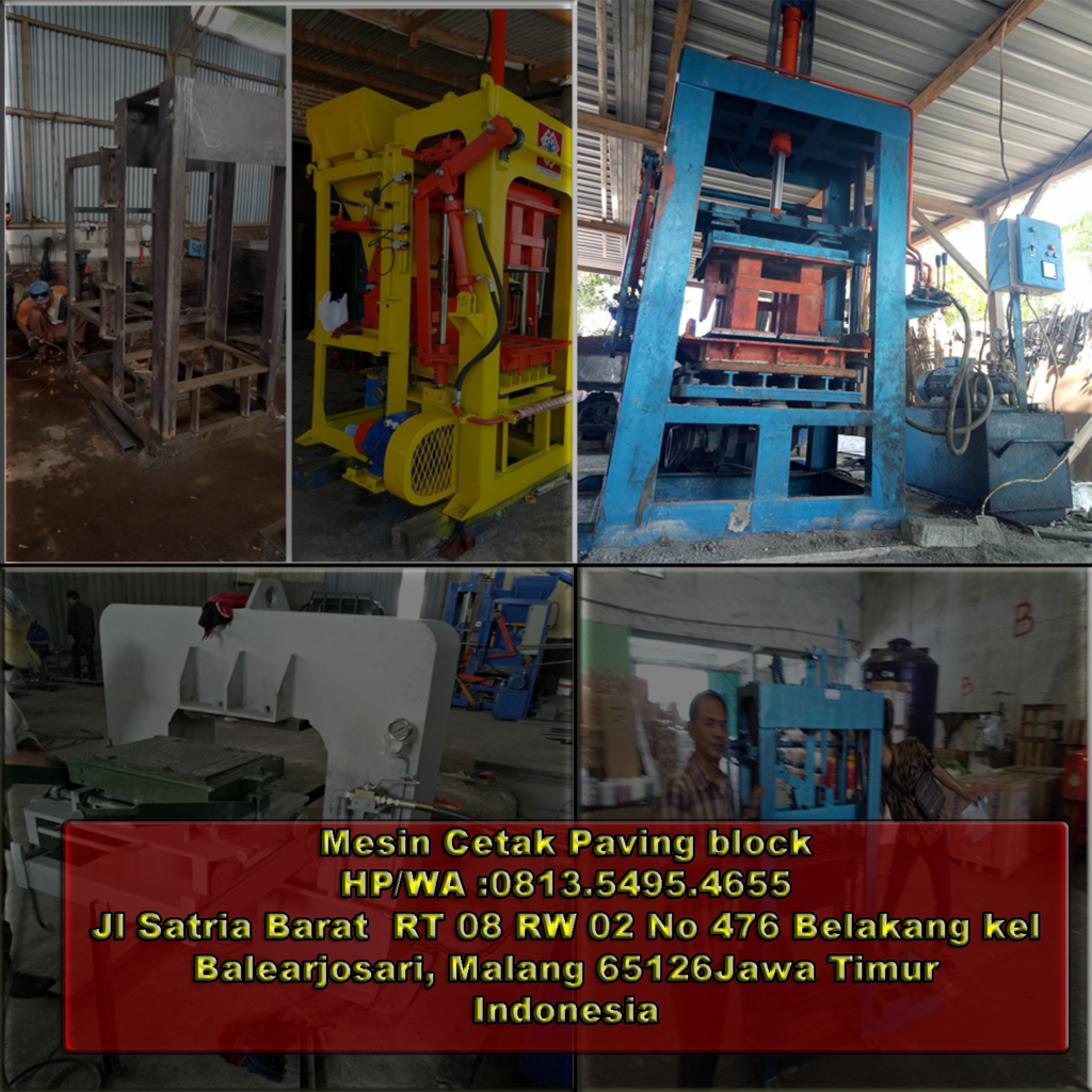 jual mesin paving block di Sorong