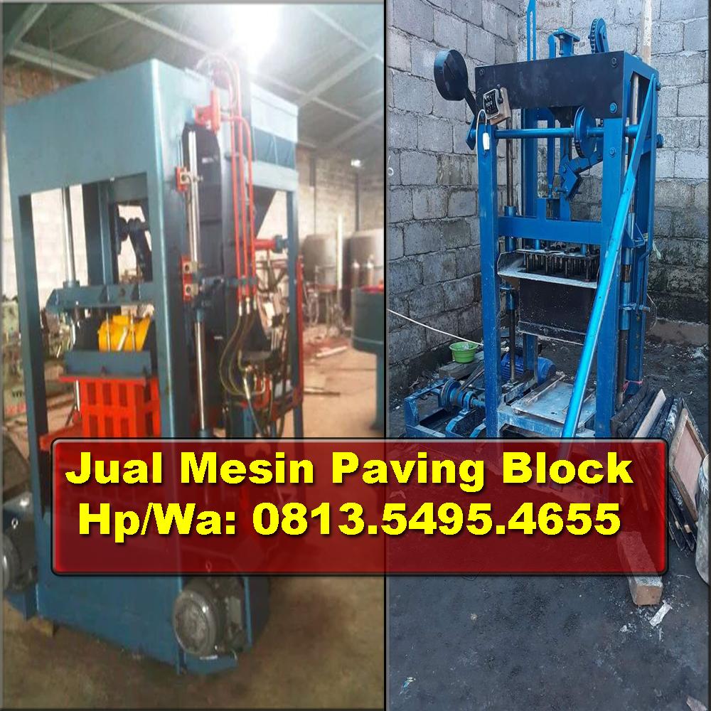 Jual mesin paving block bengkulu